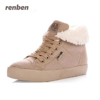 Renben 2017 New Fashion Fur Warm Ankle Boots Women Boots Snow Boots And Autumn Winter Women