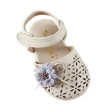 COZULMA Summer Baby Kids Fashion Cut-outs Sandal Shoes Girls Princess Flower Flat Children Bow Soft Size 21-25