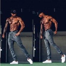 Мужские спортивные залы длинные штаны хлопковые мужские спортивные тренировки фитнес брюки повседневные модные штаны Jogger Брюки обтягивающие брюки хип-хоп