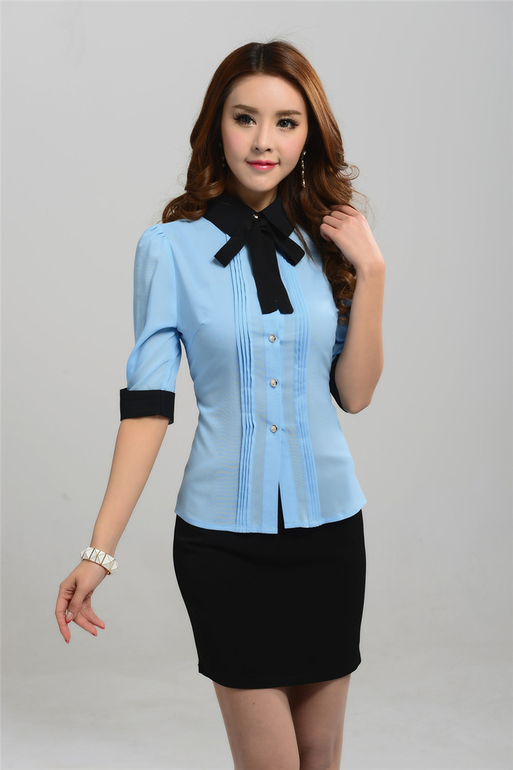 Formal skirt and blouse designs breeze clothing for Office design uniform