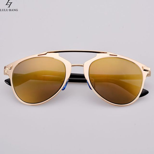 aefec19e6026 Hot Fashion Lady Women Retro Dual Horizontal Beam Full Frame Sunglasses  Double Brim cat Sunglasses Coating UV eyewear