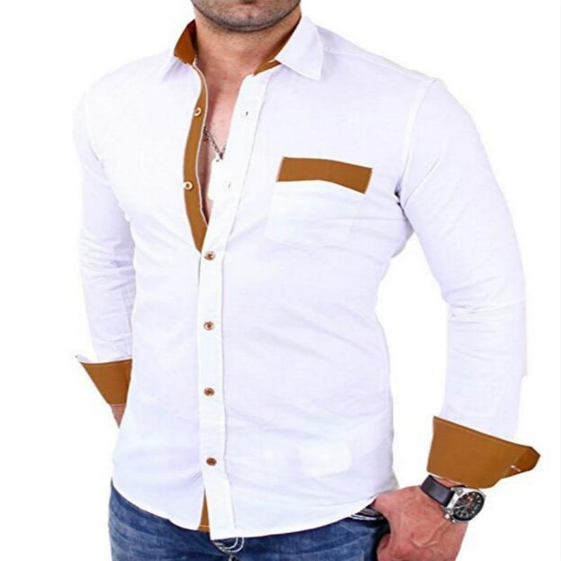 1011 40 De Descuentomejor Venta 2019 Primavera Nueva Camisa De Hombre Moda Camisa Masculina Casual Cómodo De Manga Larga De Los Hombres Camisas De