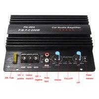 KROAK Black 12V 600W Amplifier Board Mono Car Audio Power Amplifier Powerful Bass Subwoofers Amp PA