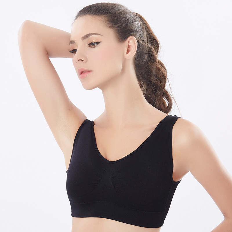 da9353c8339a1 Aliexpress.com   Buy SEXYWG Top Fitness Women Sports Bra Girls Yoga Running  Vest Underwear Sport Bra Top Female Active Wear Gym Bh Plus Size XXL Bras  from ...