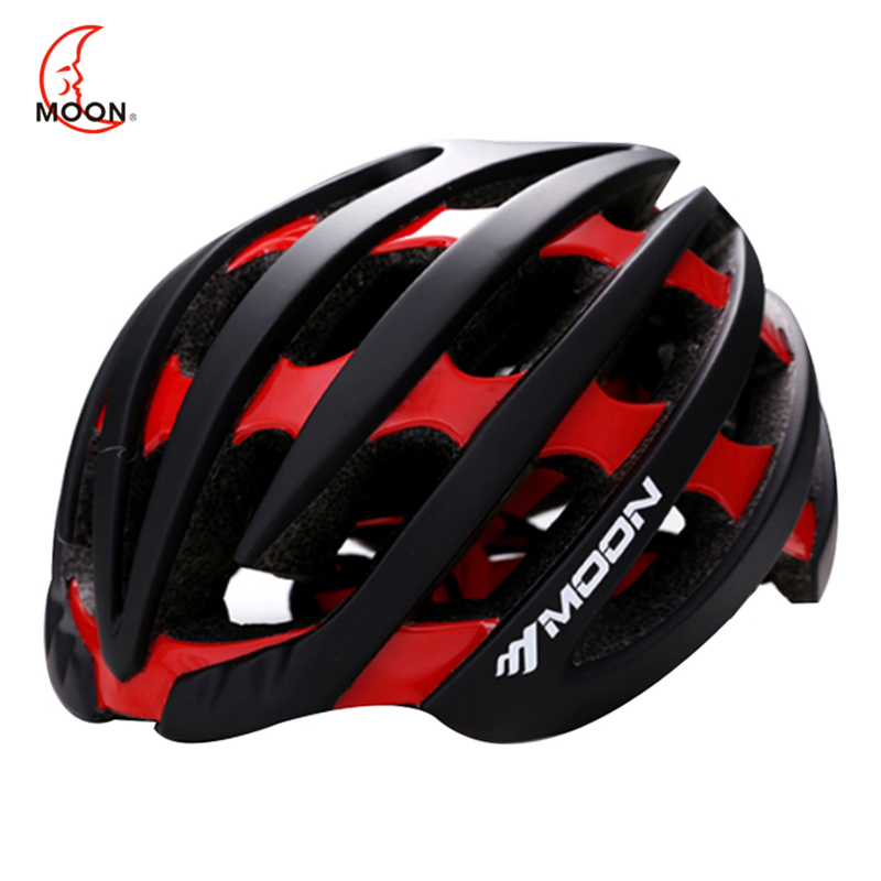 MOON Top Quality Cycling Helmet Ultralight Integrally-molded Road Mountain MTB Bike Bicycle Helmet Casco Ciclismo 52-63CM moon top quality cycling helmet bicycle insect net bicycle helmet ultralight bike helmet for road and mountain mtb [ch12]