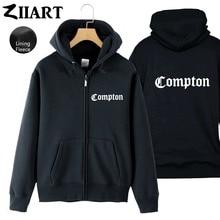 Compton carattere Gotico Hip Hop Rap Paio di Vestiti Uomo Ragazzi Full Zip  Autunno Inverno del 1921c39e600