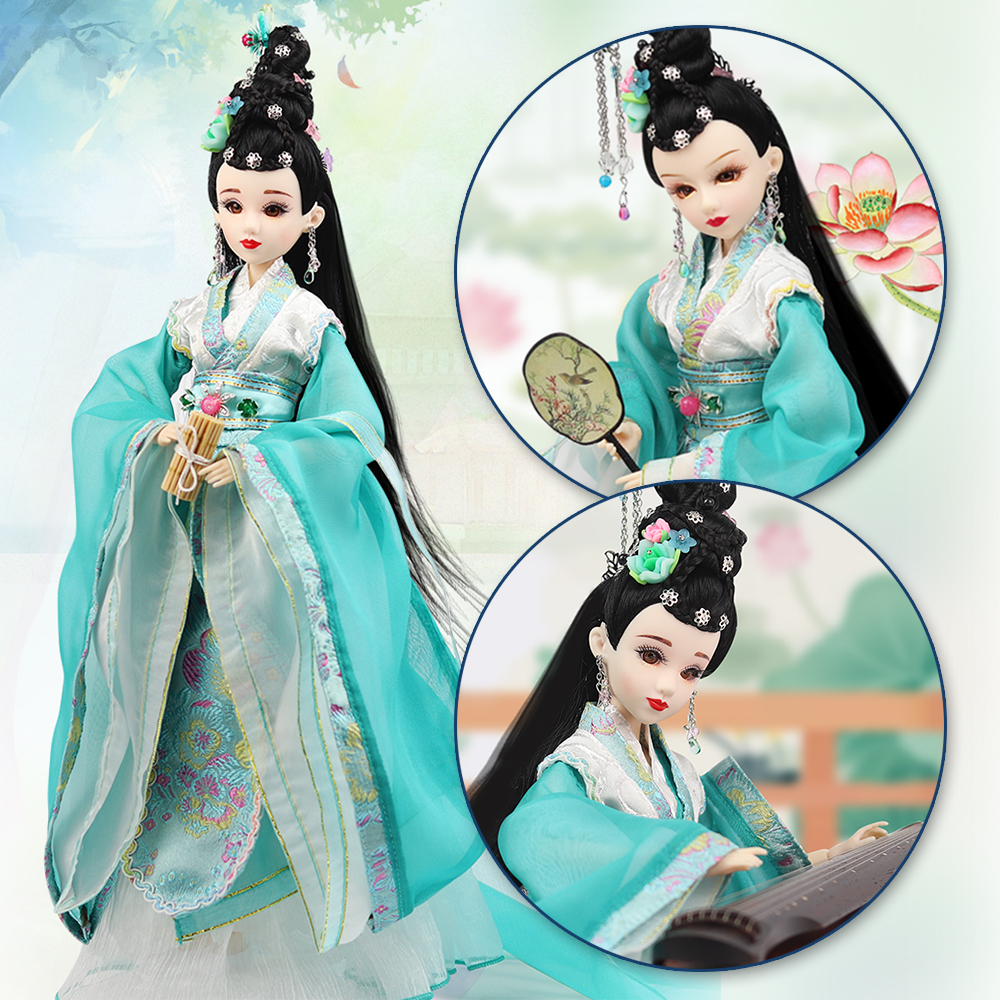 купить Fortune Days East Charm ancient costume doll 1/6 like BJD Blyth dolls Li Qingzhao with makeup 14 Joint body High Quality gift по цене 4538.83 рублей
