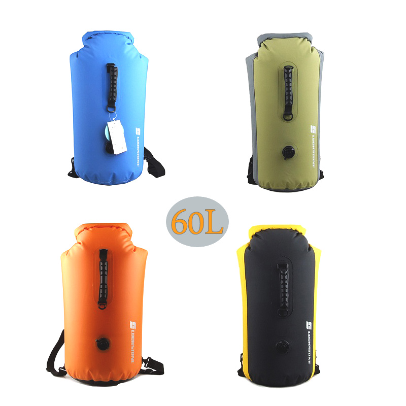 60L Large Swimming Waterproof Bag Rafting Storage Dry Bag For Kayaking Beach Rafting Boating Hiking Camping Fishing