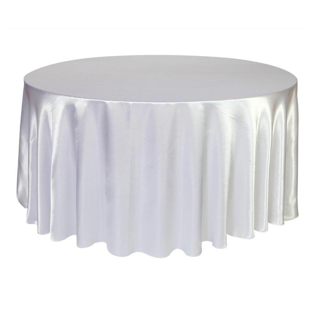 10 قطع 275 سنتيمتر جولة الحرير مفرش المائدة غطاء الطاولة البوليستر مفرش طاولة Oilproof الزفاف حزب مطعم مأدبة المنزل أسود أبيض-في مفارش المائدة من المنزل والحديقة على  مجموعة 2