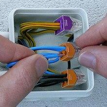 Suyep Pack décrous muraux, connecteurs de fils poussoirs, 75 pièces, kit dassortiment PCT 102, 773, 18 12 AWG, rouge/violet/gris/jaune