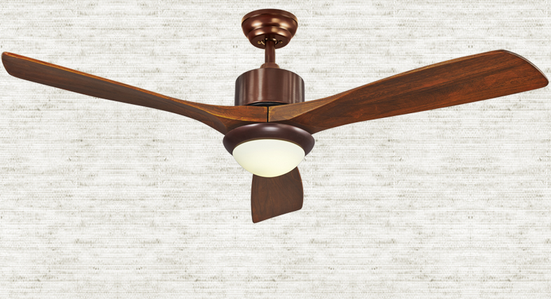 American country living room ceiling fan lights 56inch ...