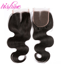 Brazilian Body Wave Lace Closure Body Wave 7A Brazilian Virgin Hair 3Part Middle Free Part Human