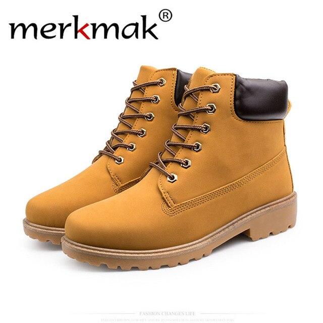 Merkmak クラシックハイトップ男性アンクルブーツカジュアル Pu レザー秋冬ファー保温通気性の男性のフラットブーツの靴ドロップシップ