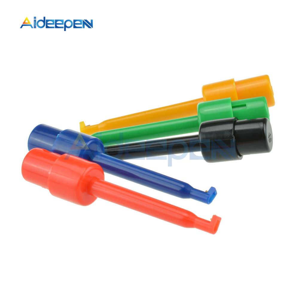 10Pcs עגול אחת וו מבחן קליפ מבחן בדיקה לאלקטרונית הבדיקה 5 צבעים עבור מודד תיקון מדידה כלי 56mm