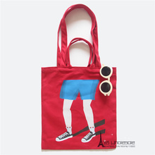 Free shipping One Piece Retail Canvas Shoulder Bags Funny Legs Prank Joke 2-ways Utility Eco-friendly artistic friends gifts