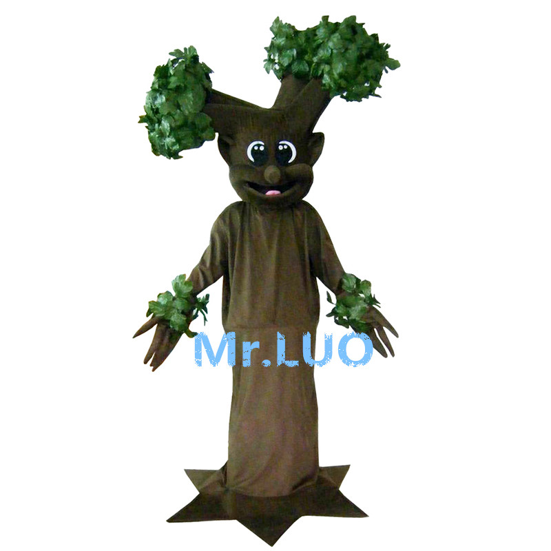 Simulation Leaves Tree Mascot Costumes Brown