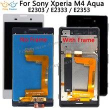 5.0 1280x720 IPS LCD Per SONY Xperia M4 Aqua Display LCD E2303 E2306 E2353 E2312 E2333 E2363 di tocco Digitale Dello Schermo