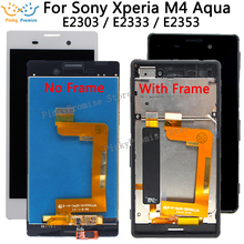 5.0 1280x720 IPS LCD ekran Için SONY Xperia M4 Aqua LCD ekran E2303 E2306 E2353 E2312 E2333 E2363 dokunmatik ekran digitizer