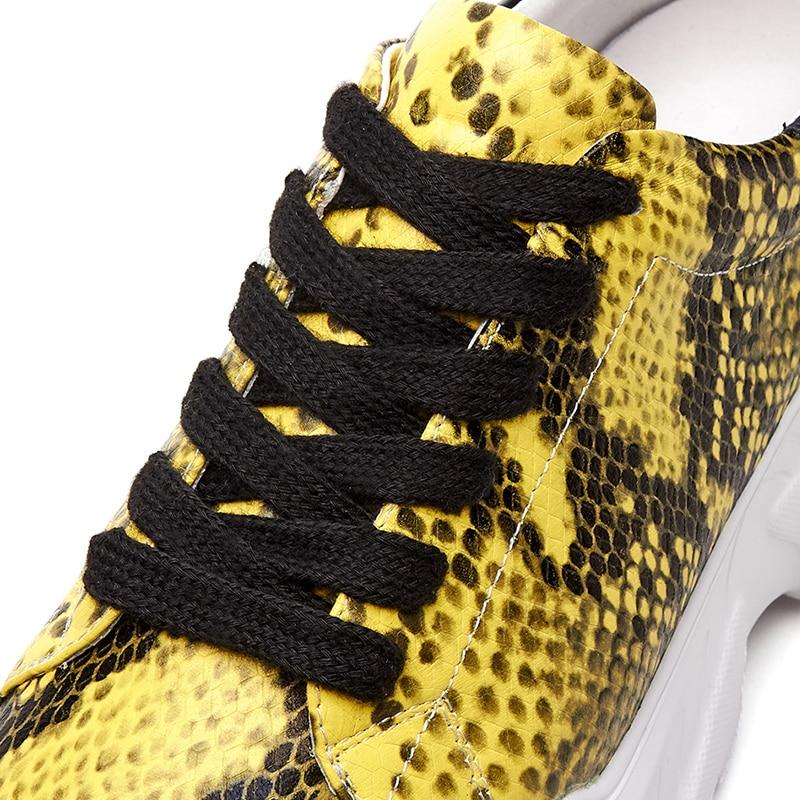 Acheter Dilalula Toute Vrai En Cuir De Vache Baskets Femmes Western Style Serpent Veines Casual Baskets Dames Plateforme Plate Forme Chaussures Femme