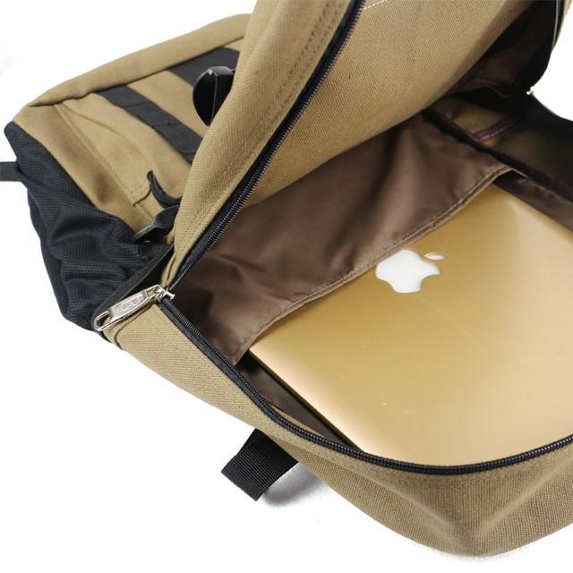 New Fashion arcuate shouider strap zipper solid casual bag male backpack school bag canvas bag designer backpacks for men 4