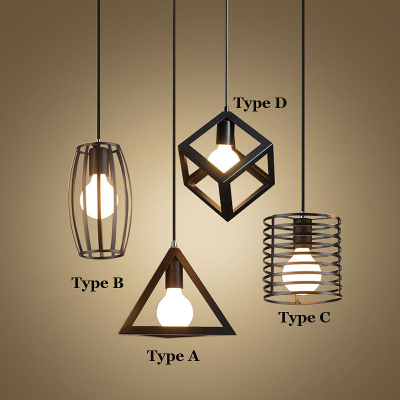 Loft retro pendant lamps bedroom dining room restaurant bar cafe lamp,single head geometic offhead hanging light chandelier retro vintage rope pendant lamp bar pub dining room aisle corridor warehouse club restaurant cafe chandelier loft light fixture