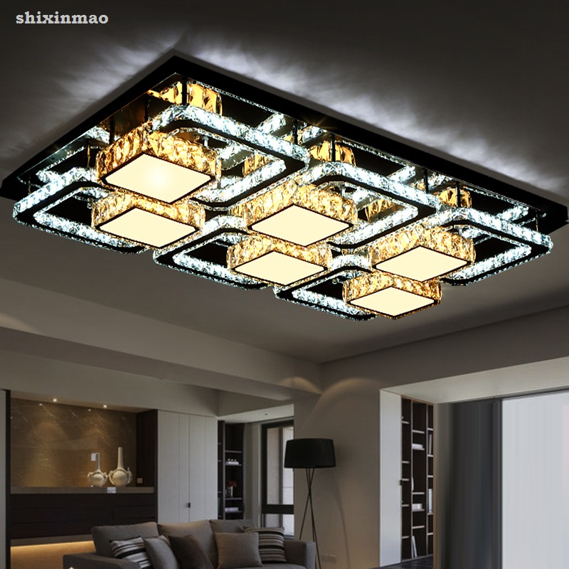 Modern Ultra Bright LED Living Room Ceiling Lamps Crystal