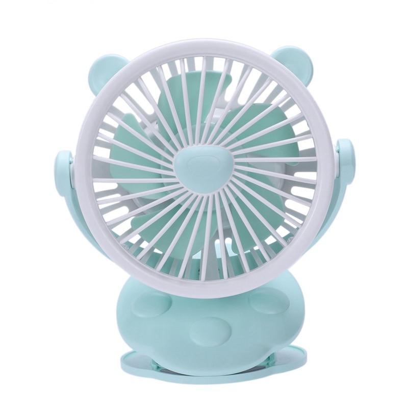 Mini Portable Clip On Fan Usb Rechargeable For Travel Stroller Outdoor Camping Baby Carriage Fan Desk Fan Green Fans     - title=