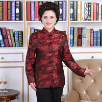 愛好家ドレス長寿黒スーツ赤シャツ中国伝統女