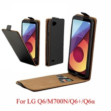 купить For LG Q6 alpha Q6a Q 6 Cover Luxury PU Leather Flip Case For LG Q 6 Plus Q6Plus Q6+ M700A M700 Vertical Open Down Up Cover дешево