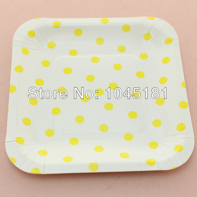 Free Shipping 7\  Square paper plates of Yellow/ White Polka Dot paper plates 120 pcs/lot-in Event \u0026 Party from Home \u0026 Garden on Aliexpress.com | Alibaba ...  sc 1 st  AliExpress.com & Free Shipping 7"|800|800|?|en|2|cc6ae4da934701ac71cdd8987295ee29|False|UNLIKELY|0.3772836923599243