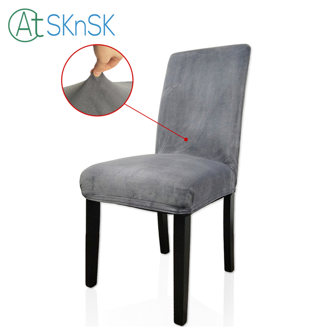 Knit Spandex Stretch Upholstery Cotton Fabric Chair Cover Hotel Loose Cover  Home Restaurant Wedding Decoration Chair