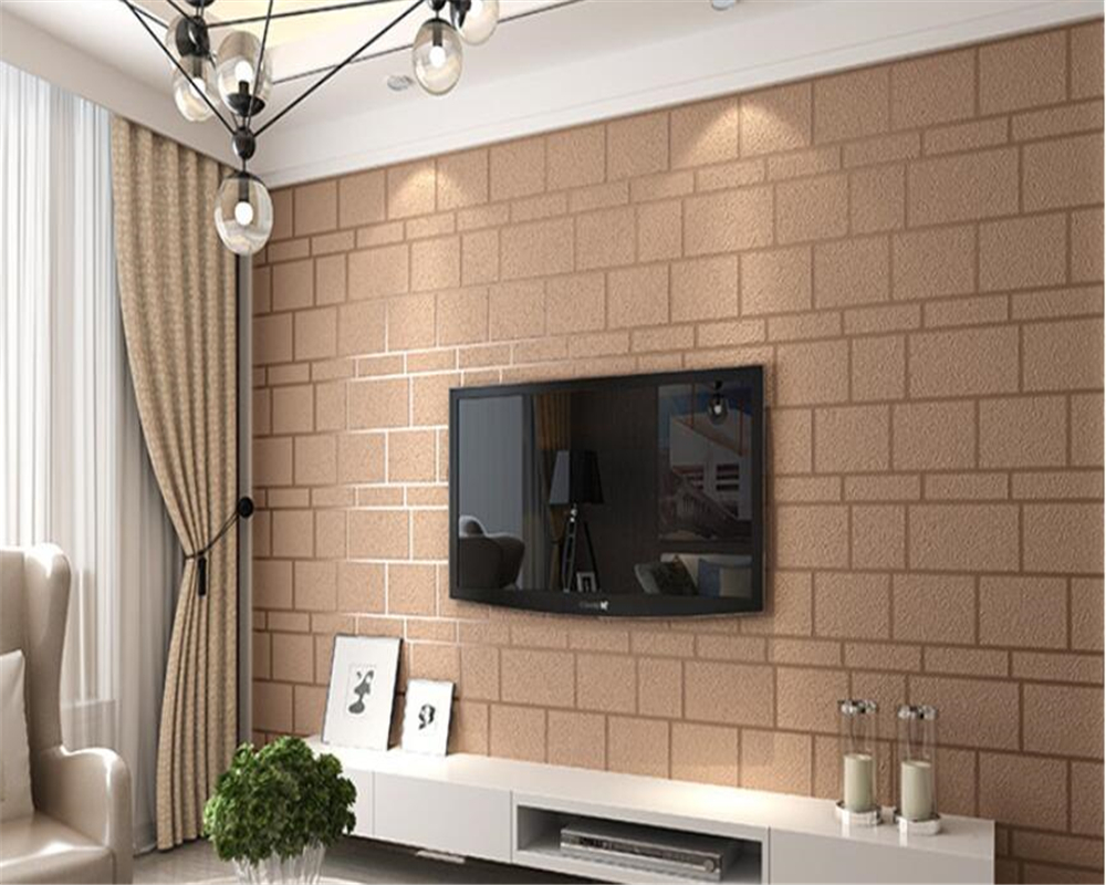 Us 43 95 25 Off Beibehang Wallpaper For Kids Room Deerskin Bricks 3d Brick Wallpaper Living Room Bedroom Home Interior Tv Background Wallpaper In