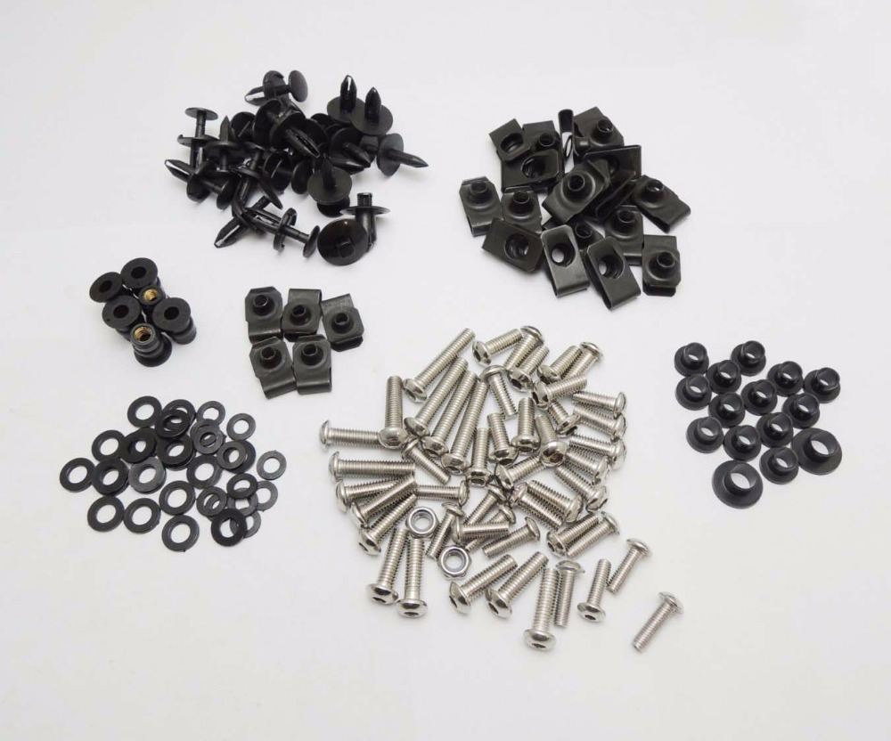 2004-2006 R1 Motorcycle Fairing Bolt Screw Nuts Washers Fastener Fixation for Yamaha YZF R1 2004 2005 2006 Complete Kit motorcycle arashi radiator grille protective cover grill guard protector for yamaha yzf r1 2004 2005 2006