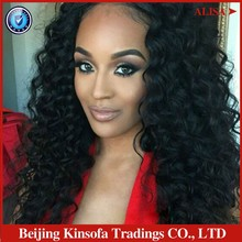 2016 Top Fashion Silk Top Lace Wig Hotsellig!! Best Curly Brazilian Virgin Hair Glueless & Front For Black Women Free Shipping