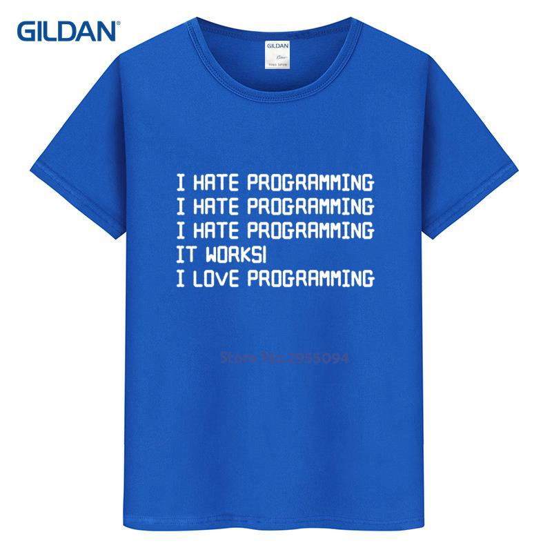 3510d4a8e I Hate Programming Computer Programmer Coding 2017 T-Shirt Design Company  Summer Fun T Shirt Cotton Best White Tee Shirt Mens