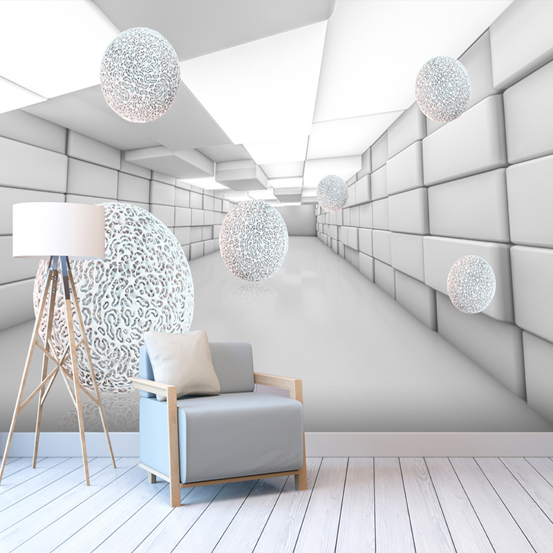 Custom Any Size Abstract Space 3D Sphere Mural Wallpaper Bedroom Living Room Background Home Decor Waterproof Wallpaper Mural