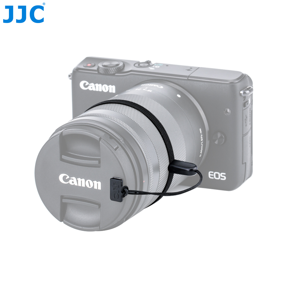 JJC DSLR/Mirrorless Camera Lens Cap Keeper Holder with 3M sticker for Canon Nikon Sony Olympus Fujifilm image