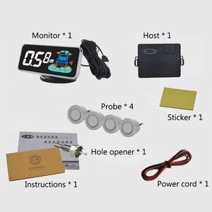 Image 5 - 4 sonde Parkplatz Sensor Mit Lautsprecher Display Auto Automobil Umkehr Radar Mikrocomputersteuerung Auto Parkplatz Sensor System