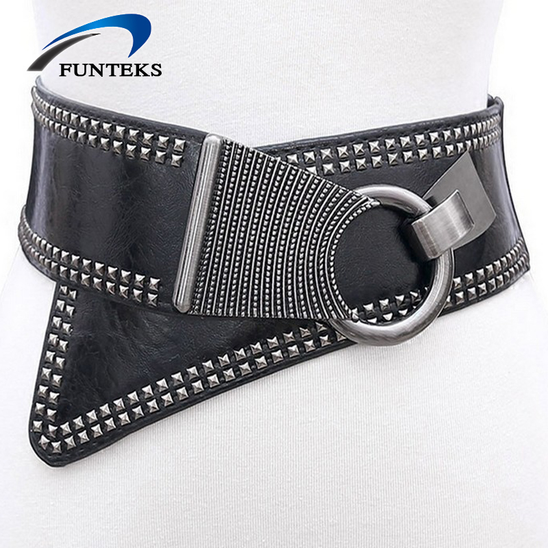 FUNTEKS 2017 Hot Rivet Punk Style Belt s