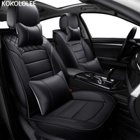 [KOKOLOLEE] ( Front + Rear ) pu Leather car seat covers For Subaru forester Outback Tribeca heritage xv impreza legacy car seats
