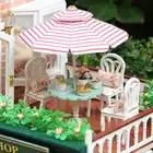 3D миниатюрный кукольный домик ручной сборки архитектурный Diy кукольный домик деревянная мебель игрушечные дома для детей подарок для взрос... - 3