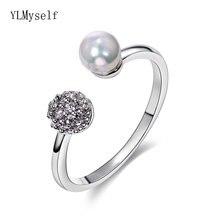 Элегантные дешевые кольца с жемчугом белые модные ювелирные