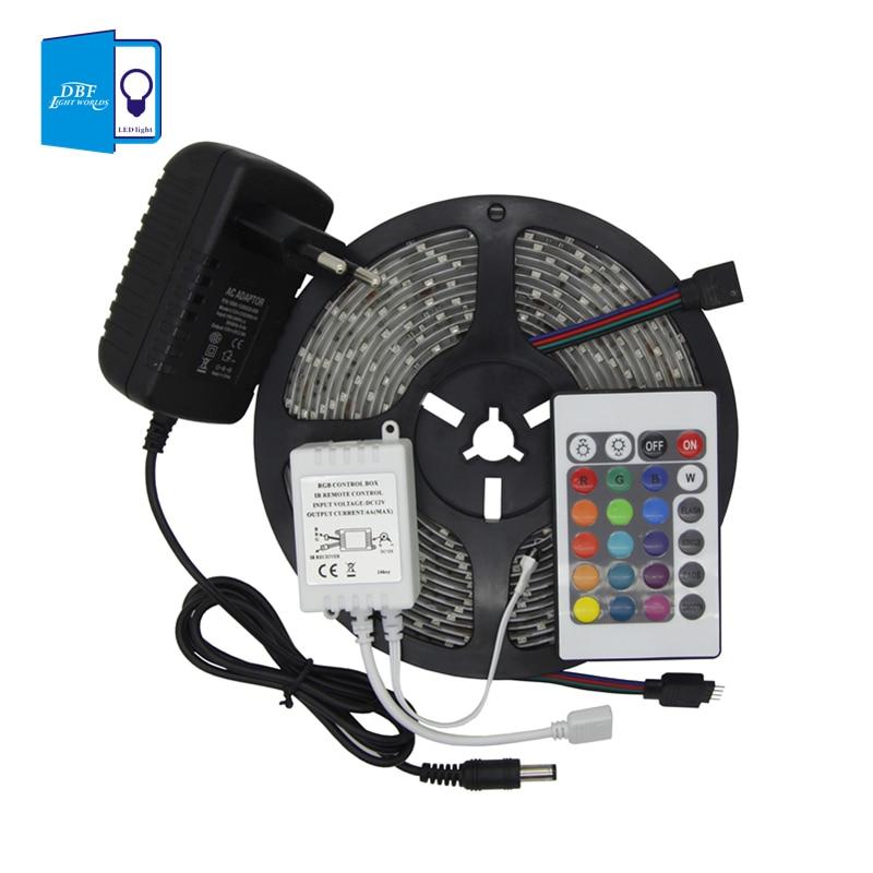 [DBF] רצועת LED גמישה Waterproof 5M SMD RGB 3528 LED - תאורת לד