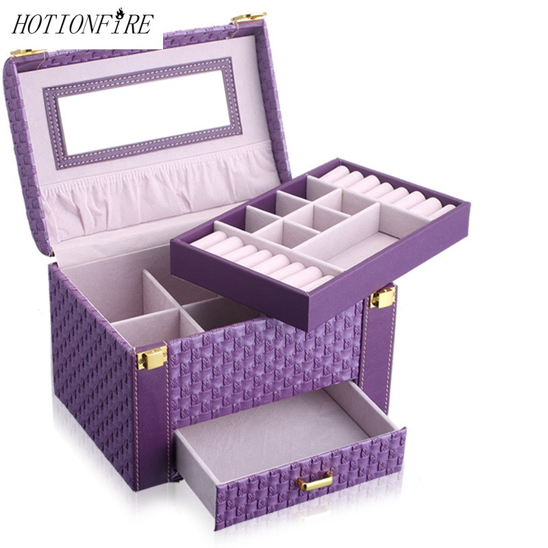 Ladies Storage Make Up  Cosmetic Bags Popular High-grade PU Portable Large Capacity Manicure Organizer Multi-function WaterproofLadies Storage Make Up  Cosmetic Bags Popular High-grade PU Portable Large Capacity Manicure Organizer Multi-function Waterproof