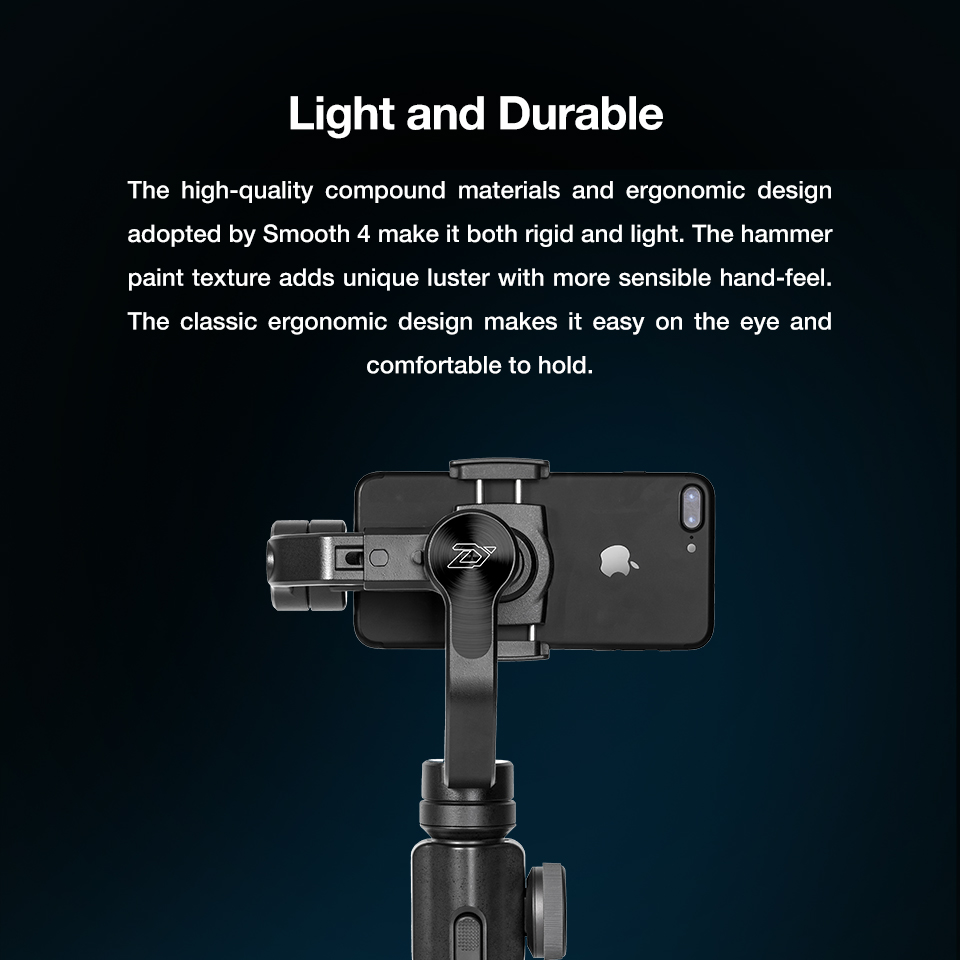 Zhiyun Smooth 4 3-Axis Handheld Smartphone Gimbal Stabilizer for iPhone XS Max XR X 8Plus 8 7P7 Samsung S9 S8 S7 & Action Camera 14