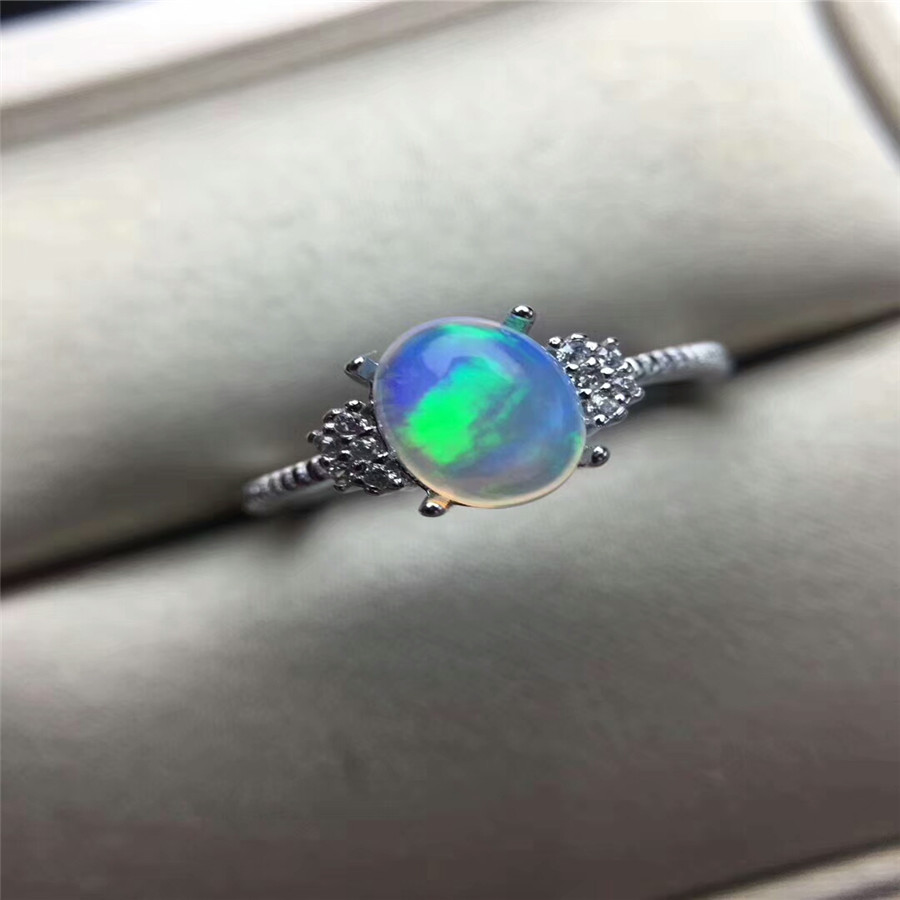все цены на Natural Oval Opal Stone Solid Silver 925 Rings Women Cute Sweet Love Heart Thin Band Real 925 Sterling Silver Jewelry Female онлайн