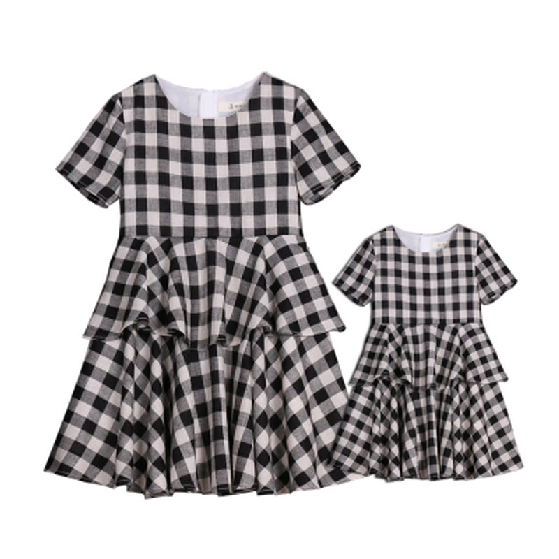 ФОТО 2017 Summer children clothes XL women lady family matching clothes mother daughter dresses infant kids mom baby girls 24M - 15Y