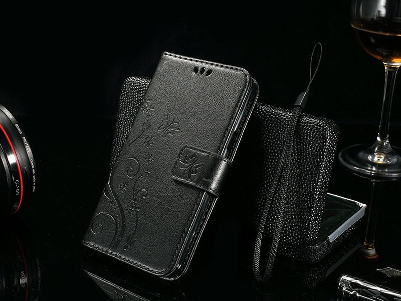 Dla microsoft nokia lumia 640 lumia 630 lumia 550 worek nadrukowane butterfly pu wizytownik skórzany telefon okładka case shell 11