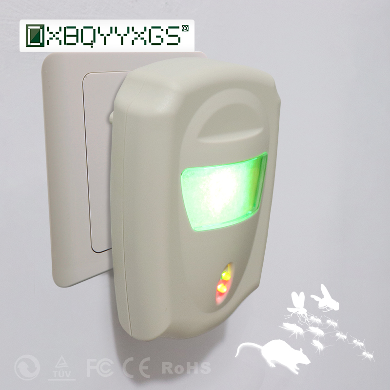 DXBQYYXGS Ultrasonic Pest Repeller Rodent Electronic Insect Rat Cockroaches Reject Mice Mouse Pest Control Mousetrap EU Plug