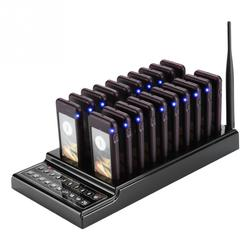Restaurant Pager System 20 Channels Guest Paging System 1km Connection Distance Restaurant Pager Wireless Coaster Pager US Plug